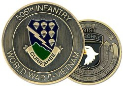 506th Airborne Infantry Currahee Challenge Coin (2 inch)