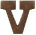 "Bronze Letter ""V"" Device for Full Size Medals"