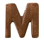 "Bronze Letter ""M"" Device for Ribbon Bars and Full Size Medals ((1/4) inch)"