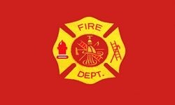 Fire Department 2 Sided Embroidered Flag 3' x 5' ft