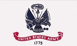 United States Army 2 Sided Embroidered Flag 2' X 3'
