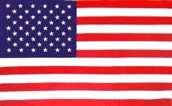 United Stated 2 Sided Embroidered Flag 2' x 3'