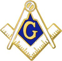Masonic Symbol Cutout Pin (3/4 inch)