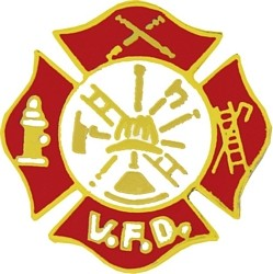 Volunteer Fire Department (VFD) Insignia Pin (7/8 inch)