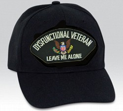 Dysfunctional Veteran/Leave Me Alone with US Insignia Black Ball Cap Import