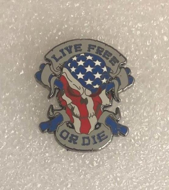 Live Free Or Die Pin
