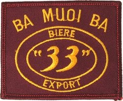 "Ba Muoi Baa ""33"" Export Small Patch (3 inch)"