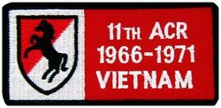 11th ACR Vietnam '66-'71 Small Patch (3 inch)