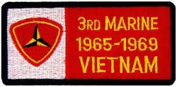 3rd Marine Vietnam '65-'69 Small Patch (3 inch)