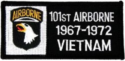 101st Airborne Division Vietnam '67-'72 Small Patch (3 inch)