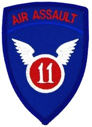 11th Air Assault Small Patch (3 inch)