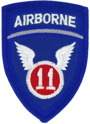 11th Airborne Division Small Patch (2 1/2 inch)
