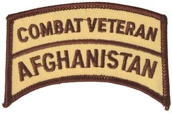 Combat Veteran Afghanistan Small Patch (3 inch)