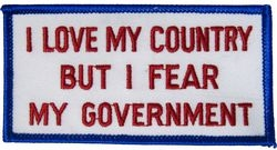 I Love My Country Small Patch (3 inch)