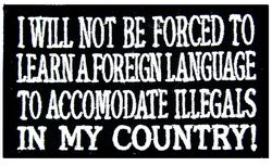 Foreign Language Small Patch (3 inch)