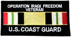 US Coast Guard Iraqi Freedom Veteran Small Patch (3 inch)
