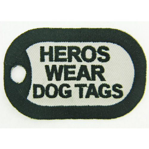 Heros Wear Dog Tags (3 inch)
