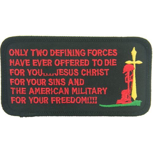 Only Two Defining Forces Have Ever Offered To Die (4 1/2 inch)