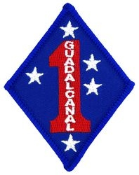 Guadalcanal 1st Marine Small Patch (3 inch)