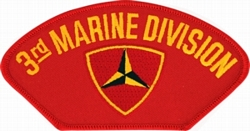 3rd Marine Division Insignia Red Patch (4 inch)