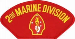 2nd Marine Division Insignia Red Patch (4 inch)