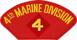4th Marine Division Insignia Red Patch (4 inch)