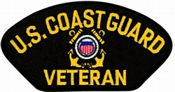 US Coast Guard Veteran Insignia Black Patch (4 inch)