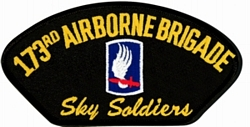 173rd Airborne Brigade Sky Soldiers Black Patch (4 inch)