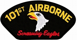 101st Airborne Screaming Eagles Black Patch (4 inch)