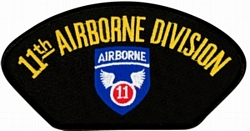 11th Airborne Division Insignia Black Patch (4 inch)