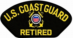 US Coast Guard Retired Insignia Black Patch (4 inch)