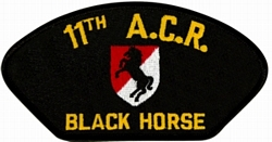 11th Armored Cavalry Regiment Black Horse Black Patch (4 inch)