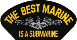 The Best Marine is a Submarine Black Patch (4 inch)