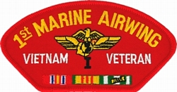 1st Marine Airwing Vietnam Veteran with Ribbons Red Patch (4 inch)