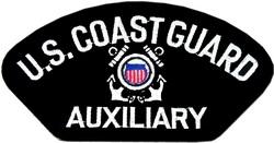 US Coast Guard Auxiliary Insignia Black Patch (4 inch)