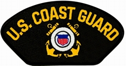 US Coast Guard Insignia Black Patch (4 inch)