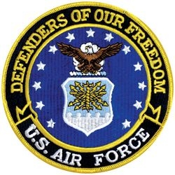 US Air Force Defenders of Our Freedom Back Patch (5 inch)