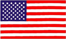 United States 1 Sided Screen Printed Flag 3' x 5' ft