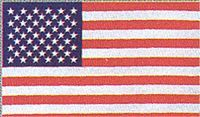 United States 1 Sided Screen PrintedFlag 2'x3'